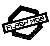 Flash Mob rubber stamp. Grunge design with dust scratches. Effects can be easily removed for a clean, crisp look. Color is easily changed Stock Photo