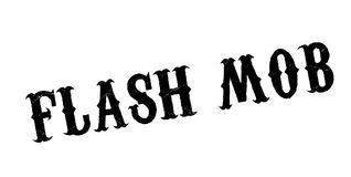 Flash Mob rubber stamp. Grunge design with dust scratches. Effects can be easily removed for a clean, crisp look. Color is easily changed Stock Photography