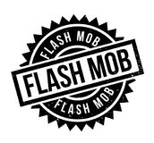 Flash Mob rubber stamp. Grunge design with dust scratches. Effects can be easily removed for a clean, crisp look. Color is easily changed Stock Image