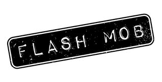 Flash Mob rubber stamp. Grunge design with dust scratches. Effects can be easily removed for a clean, crisp look. Color is easily changed Royalty Free Stock Photo