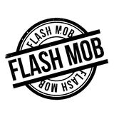 Flash Mob rubber stamp Royalty Free Stock Photography
