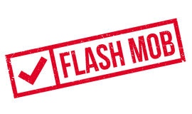 Flash Mob rubber stamp Royalty Free Stock Image