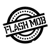 Flash Mob rubber stamp Royalty Free Stock Photo