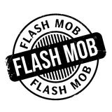 Flash Mob rubber stamp Royalty Free Stock Images