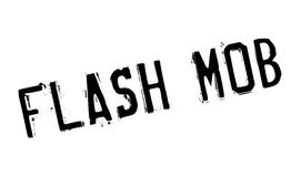 Flash Mob rubber stamp Stock Photos