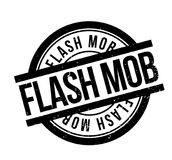 Flash Mob rubber stamp. Grunge design with dust scratches. Effects can be easily removed for a clean, crisp look. Color is easily changed Royalty Free Stock Images