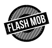 Flash Mob rubber stamp. Grunge design with dust scratches. Effects can be easily removed for a clean, crisp look. Color is easily changed Stock Photos
