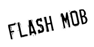 Flash Mob rubber stamp. Grunge design with dust scratches. Effects can be easily removed for a clean, crisp look. Color is easily changed Royalty Free Stock Photography