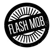 Flash Mob rubber stamp. Grunge design with dust scratches. Effects can be easily removed for a clean, crisp look. Color is easily changed Royalty Free Stock Image