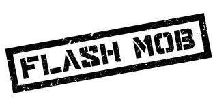 Flash mob rubber stamp Stock Photo