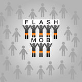 Flash mob. Vector illustration with the flash mob Stock Photography