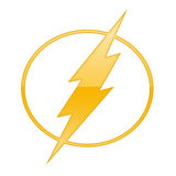 Flash power sign Stock Photos