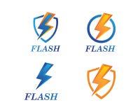 Flash power thunder illustration vector. Flash power thunder illustration vector template royalty free illustration