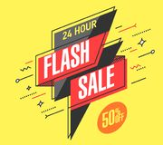 Free Flash Sale Banner Royalty Free Stock Photo - 117715825