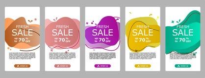 Flash sale banner mobile app and instagram vector illustration