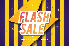Flash sale banner template design. Abstract sale banner. Vector illustration. Flash sale banner template. Sale banner design with abstract background. Web royalty free illustration