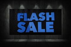 Flash Sale 3D Display vector illustration