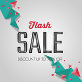 Flash sale, discount special offer banner template. Website advertising and promotion. Stock Photo
