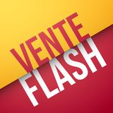 Flash sale in French : Vente Flash. Vector illustration Stock Images