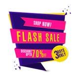 Flash Sale Paper Tag, Label or Banner design. Stock Images