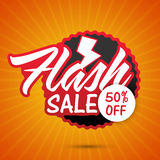 Flash Sale Poster, Banner or Flyer design. Flash Sale with 50% Discount Offer, Can be used as Poster, Banner or Flyer design Royalty Free Stock Image