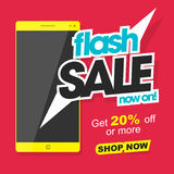 Flash Sale Poster, Banner or Flyer design. Royalty Free Stock Images