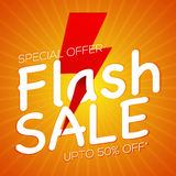 Flash Sale Poster, Banner or Flyer design. Stock Photos