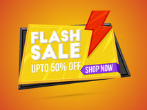 Flash Sale Poster, Banner or Flyer design. Royalty Free Stock Photos
