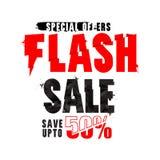 Flash Sale Poster, Banner or Flyer design. Stock Photos
