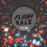 Flash Sale Poster Template. Illustration of Flash Sale Poster Template. Vector Flash Sale Banner with Bright Energy Flow Motion Energy on Background Royalty Free Stock Photography
