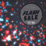 Flash Sale Poster. Vector Flash Sale Banner. Illustration of Flash Sale Poster Template. Vector Flash Sale Banner with Bright Energy Flow Motion Energy on Stock Photos