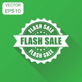 Flash sale rubber stamp icon. Business concept sale discount sta Royalty Free Stock Photography