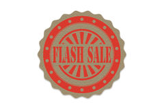 Flash sale  stamp on paper Royalty Free Stock Photos