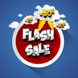 Flash Sale. With thunder on background vector illustration Royalty Free Stock Photos
