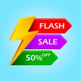 Flash Sale with thunder. Illustration of Flash Sale with thunder stock illustration