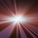 Flash Star Vanishing Point Stock Photo