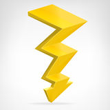 Flash strike 3D icon vector isolated Royalty Free Stock Image