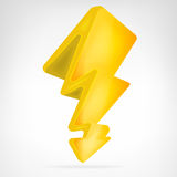 Flash strike icon vector isolated Royalty Free Stock Images