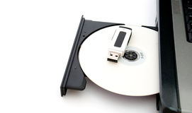 Flash USB and CD Stock Photo