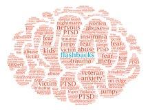 Flashback Brain Word Cloud Foto de Stock
