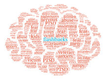 Flashbacks Brain Word Cloud Stock Photo