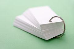 Flashcard Royalty Free Stock Photos