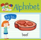 Flashcard alphabet B is for beef Royalty Free Stock Photography