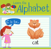 Flashcard alphabet C is for cat Royalty Free Stock Image