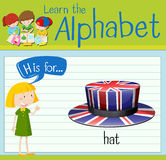 Flashcard alphabet H is for hat Stock Images