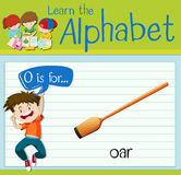 Flashcard alphabet O is for oar Royalty Free Stock Photography