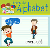 Flashcard alphabet O is for overcoat. Illustration Stock Photos