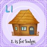 Flashcard av L är för loge royaltyfri illustrationer