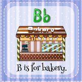 Flashcard B is for bakery Stock Photography