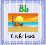 Flashcard of B is for beach Royalty Free Stock Image